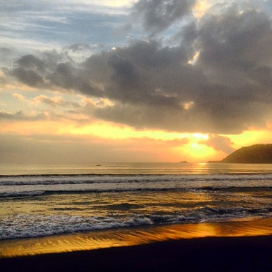 Sabang Beach during sunrise