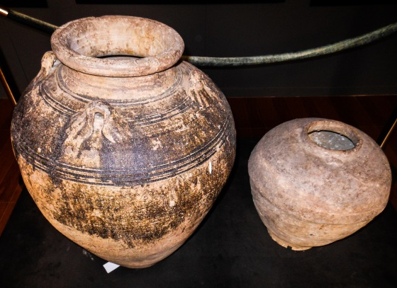 Some of the old jars on display.